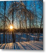 Sunset Winter Shadows Metal Print