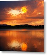 Sunset With A Golden Nugget Metal Print