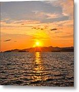 Sunset With Halo Metal Print