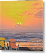 Sunset With Scripture Metal Print