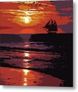 Sunset - Wonder Of Nature Metal Print