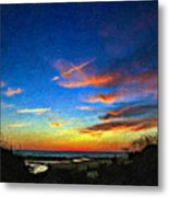 Sunset X Impasto Metal Print