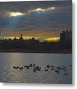 Sunset,lake, Metal Print