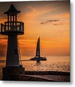 Sunsets And Sailboats Metal Print