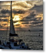 Sunsets And Sails Metal Print