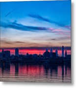 Sunsets Over Philly Metal Print