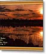 Sunsettia Gloria Catus 1 No. 1 L A. With Decorative Ornate Printed Frame. Metal Print