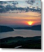 Sunsetting Over Portree, Isle Of Skye, Scotland. Metal Print