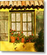 Sunshine And Shutters Metal Print