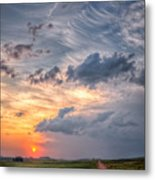 Sunshine And Storm Clouds Metal Print
