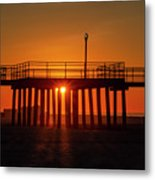 Sunshine At Wildwood Crest Pier Metal Print