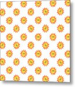 Sunshine Daisy Repeat Metal Print