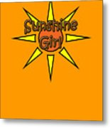 Sunshine Girl Metal Print