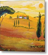 Sunshine In Tuscany In The Morning Metal Print