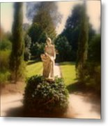 Sunshine Lady Metal Print
