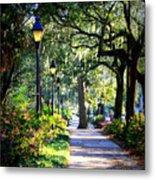 Sunshine On Savannah Sidewalk Metal Print