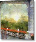 Sunshine On The Grand Hotel Mackinac Island Michigan Pa 01 Metal Print