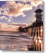 Sunshine Pier Metal Print
