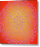 Sunshine Purple Mandala Metal Print