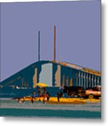 Sunshine Skyway Metal Print