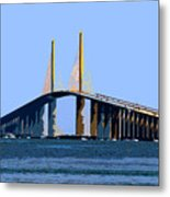Sunshine Skyway Summer Metal Print