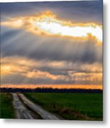 Sunshine Through The Clouds Metal Print