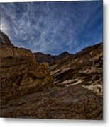 Sunstar Over Mosaic Canyon - Death Valley Metal Print