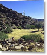 Sunup In Ghost Town Metal Print