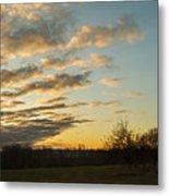 Sunup On The Farm Metal Print