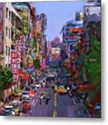 Super Colorful City Metal Print