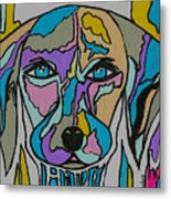 Super Hero - Contemporary Dog Art Metal Print