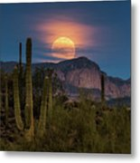 Super Moon 2018 - Wolf Moon  Metal Print