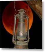Eerie Light Of An Eclipsed Super-moon Metal Print