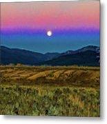 Super Moon Over Taos Metal Print