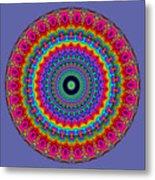 Super Rainbow Mandala Metal Print