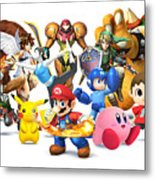 Super Smash Bros. For Nintendo 3ds And Wii U Metal Print