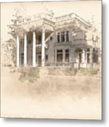Superintendent's Home Drawing Metal Print