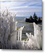 Superior Ice Formations Metal Print