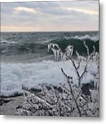 Superior January Waves Metal Print