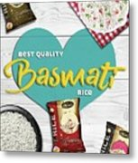 Superior Quality Basmati Rice Importers In New Zealand - Kashish Food Metal Print