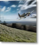 Supermarine Spitfire Fly Past Metal Print