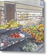 Supermarket Produce Section Metal Print