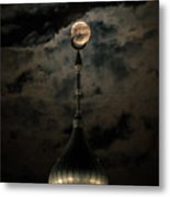 Supermoon Minaret Metal Print