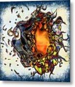 Supernova In Harlequin Metal Print