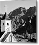 Superstition Mountain And Elvis Church Metal Print