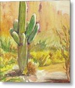 Superstition Saguaro Metal Print