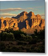 Superstitions At Sunset  Metal Print