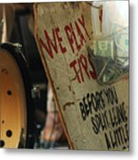 Support Our Music New Orleans Metal Print