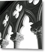 Support System Bw Metal Print