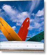 Surboards In A Plymouth Metal Print by Dana Edmunds - Printscapes